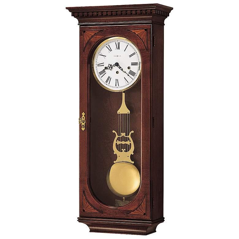 "Howard Miller Lewis 33 1/2"" High Chiming Wall Clock"