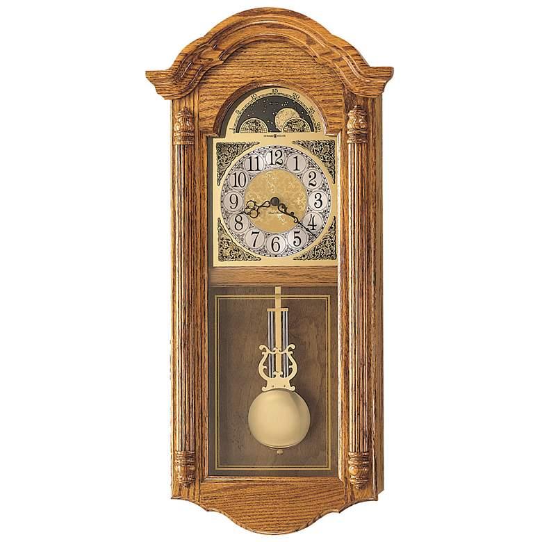 "Howard Miller Fenton 28 1/2"" High Pendulum Chime Wall Clock"