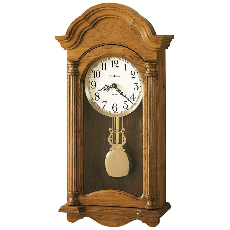 "Amanda 25 1/4"" High Pendulum Wall Clock with"