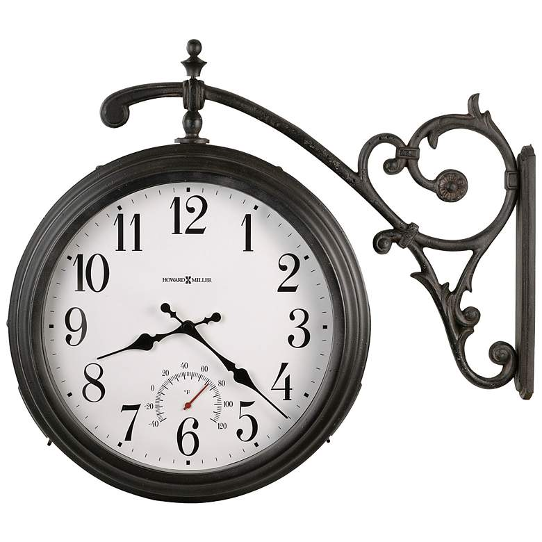 """Howard Miller Luis 19 1/2"""" High Double Sided Wall Clock"""