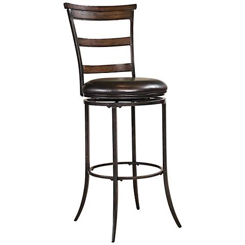 "Hillsdale Cameron Ladder-Back 26"" Brown Counter Stool"