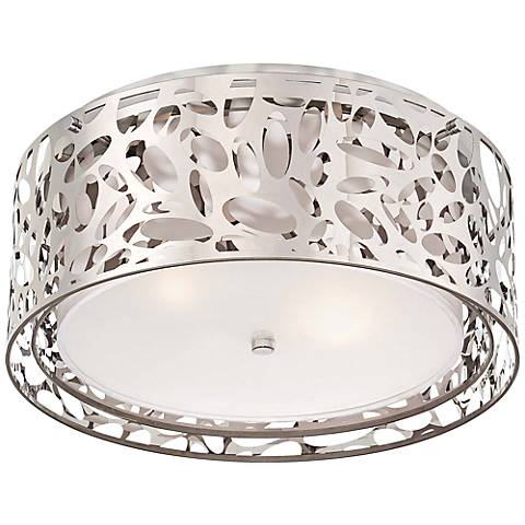 "George Kovacs Layover 15 3/4"" Wide Chrome Ceiling Light"