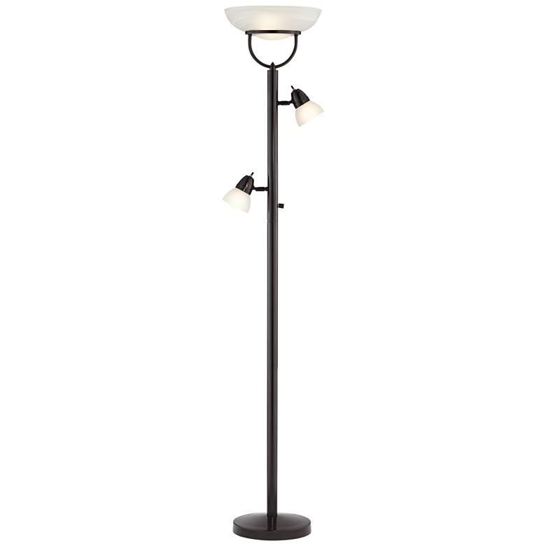 3-in-1™ Design Contemporary Torchiere Floor Lamp Bronze