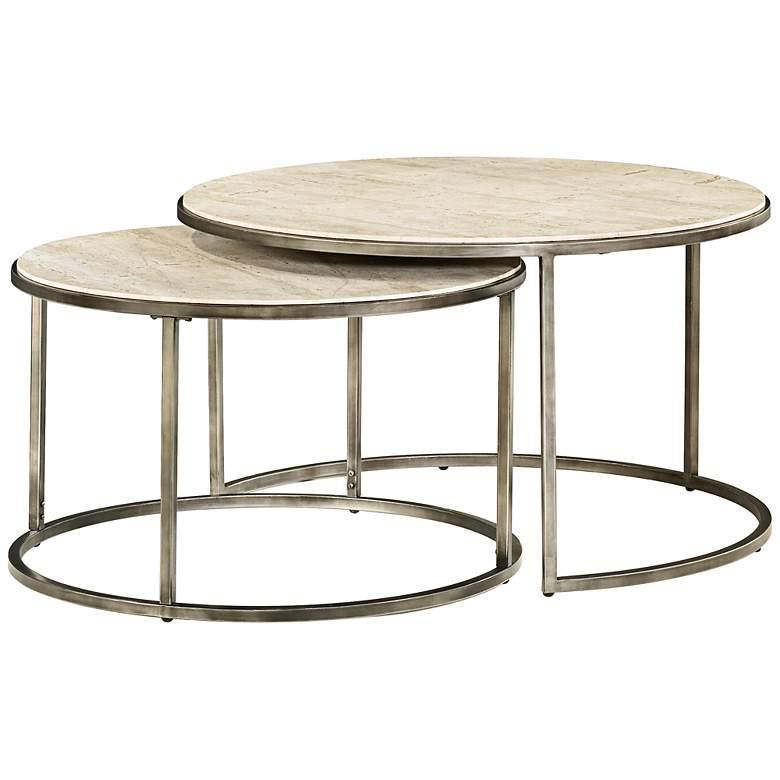 Hammary Modern Basics Round 2-Piece Bronze Coffee Table