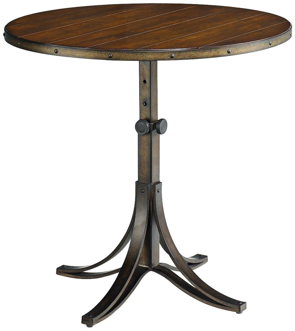 Delicieux Hammary Mercantile Adjustable Height Round Whiskey End Table