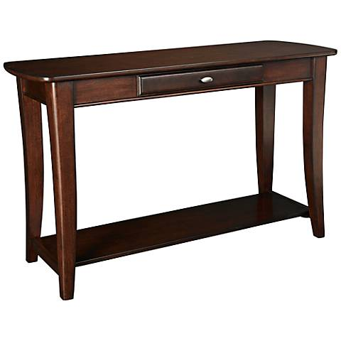 Hammary Enclave 1-Drawer and 1-Shelf Sable Sofa Table