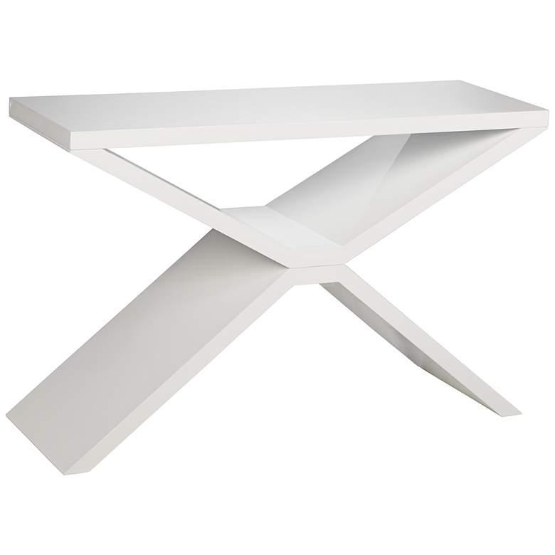 Whitaker Modern High-Gloss White Console Table