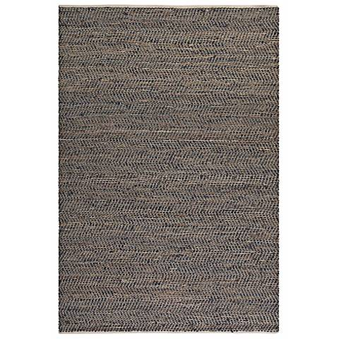 Uttermost Tobais 71001 Black and Tan Area Rug