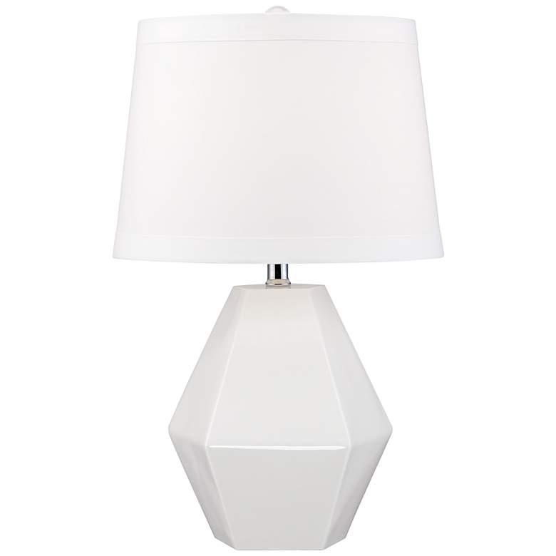 Mini Diamante White Table Lamp