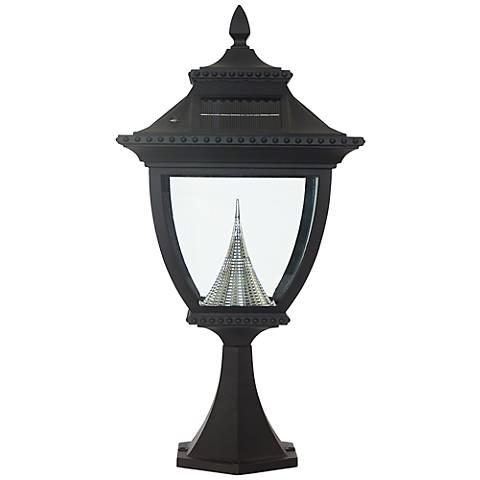 pagoda solar 6000k 3 2 watt led black pier mount light 2k717