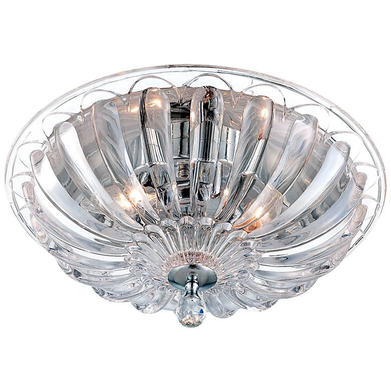 "Eurofase Vintage 15 3/4""W Scalloped Glass Ceiling Light"
