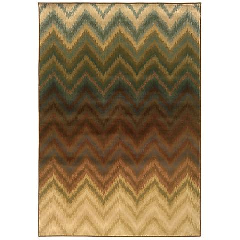 Oriental Weavers Hudson Collection 3458A Chevron Area Rug