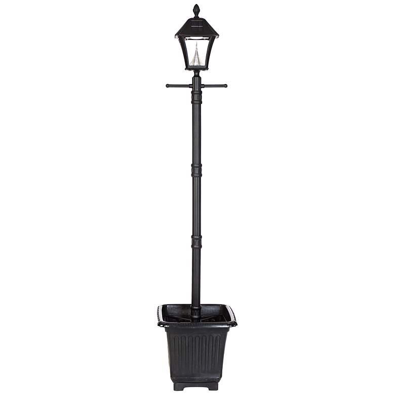 Baytown Black Planter Box 6000K 2-Watt LED Solar Post Light