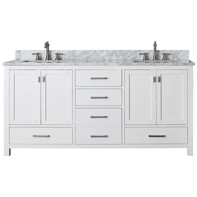 "Avanity Modero 72"" Wide White Dual Sink Vanity Combo"