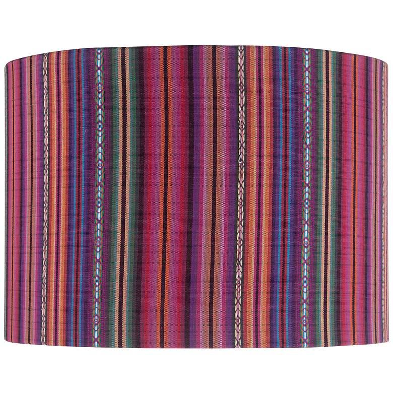Guatemalan Print Drum Lamp Shade 14x14x10 (Spider)