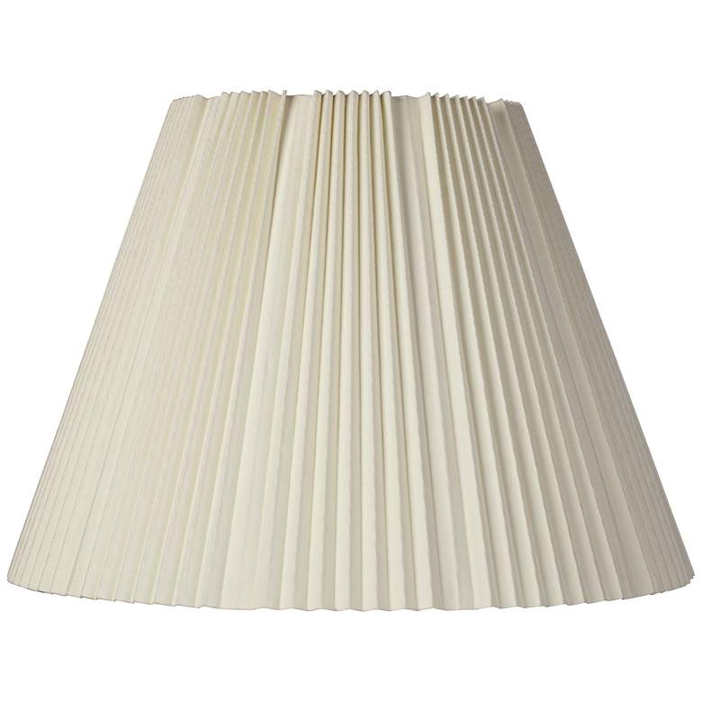 Eggshell Pleated Lamp Shade 9x17x12.25 (Spider)
