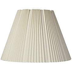 17 inch and up large table and floor lamps pleated lamp shades eggshell pleated lamp shade 9x17x1225 spider mozeypictures Choice Image