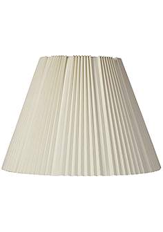 17 inch and up large table and floor lamps pleated lamp shades eggshell pleated lamp shade 9x17x1225 spider mozeypictures Images