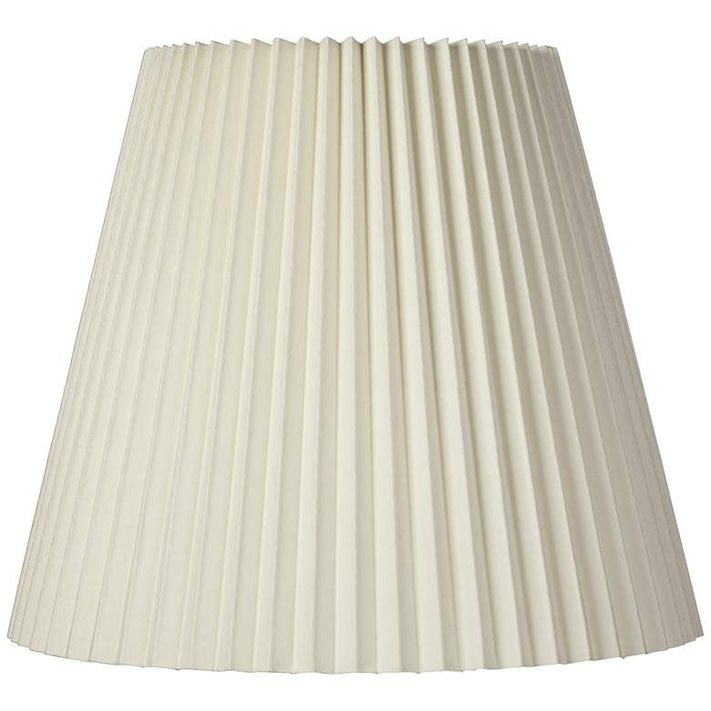 Ivory Pleated Shade 10x17x14.75 (Spider)