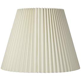 Ivory Pleated Shade 11x19x14 5 Spider