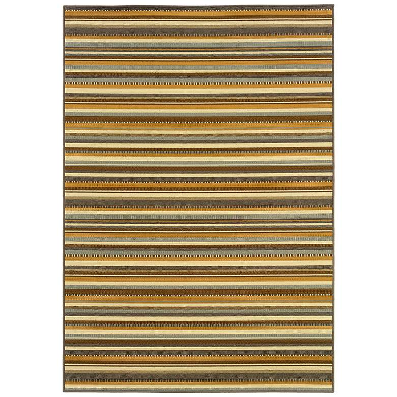"Bali 1001J 5'3""x7'6"" Striped Outdoor Rug"