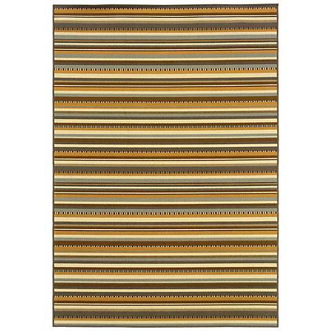 Oriental Weavers Bali 1001J Striped Indoor-Outdoor Rug