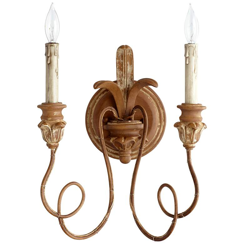 "Quorum Salento Collection 14"" High French Umber Sconce"