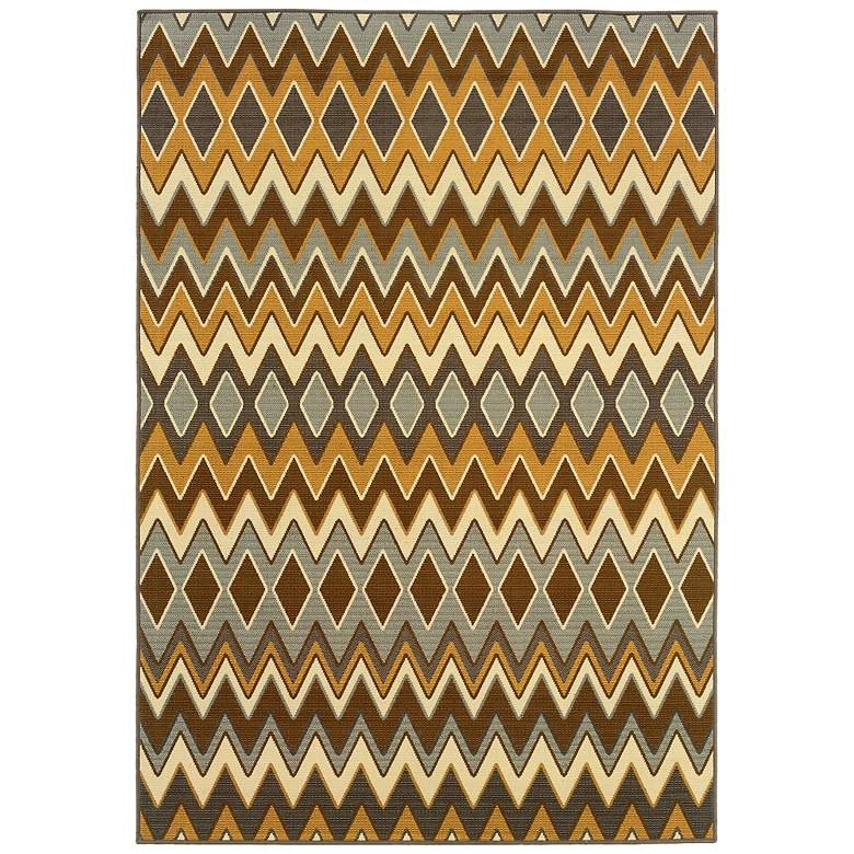 "Oriental Weavers 1732D 5'3""x7'6"" Chevron Outdoor Rug"