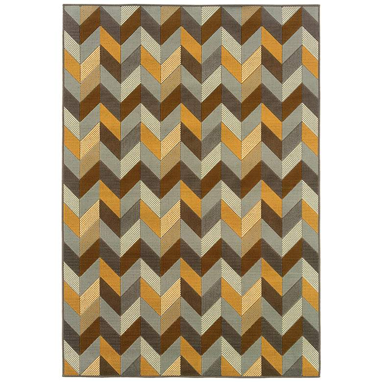 Oriental Weavers Bali 4902X ZigZag Indoor-Outdoor Rug