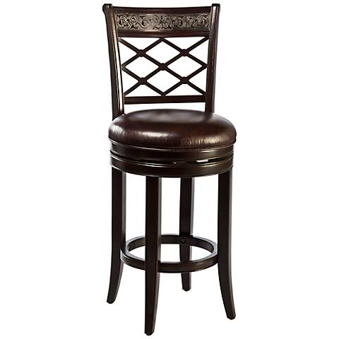 spalding espresso 30 swivel bar stool 2m649 lamps plus. Black Bedroom Furniture Sets. Home Design Ideas