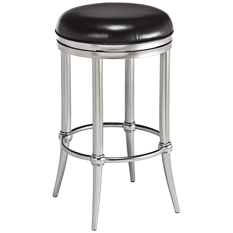 Excellent Cadman 26 Backless Nickel Black Swivel Counter Stool Ocoug Best Dining Table And Chair Ideas Images Ocougorg