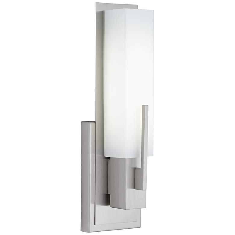 "Possini Euro Midtown 15"" High Satin Nickel LED Wall Sconce"