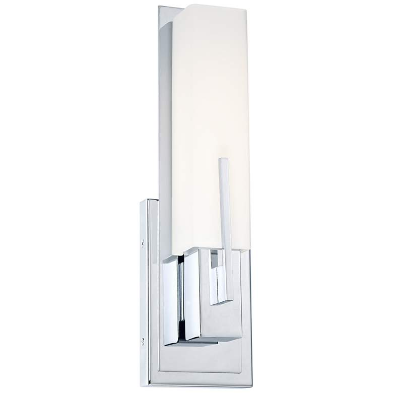 "Possini Euro Design Midtown 15"" High Chrome LED Wall Sconce"