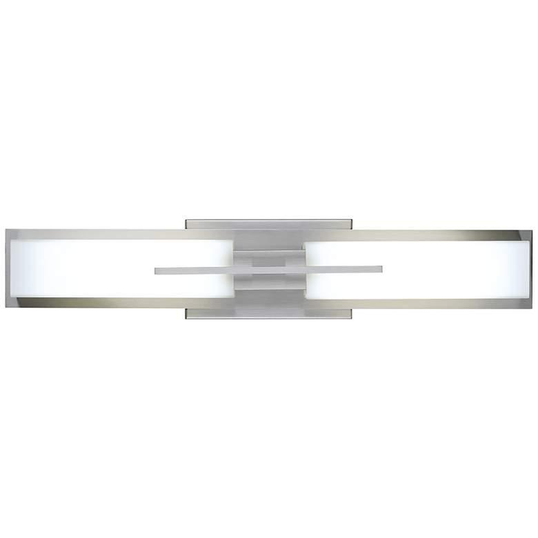 "Possini Euro Midtown 23 1/2""W Satin Nickel LED Bath Light"