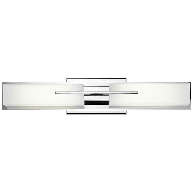 "Possini Euro Midtown 23 1/2"" Wide Chrome LED Bath Light"