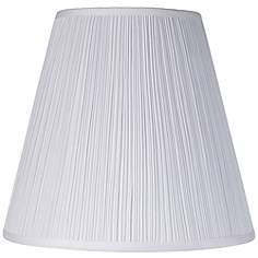Lamp shades lamps plus brentwood mushroom pleated shade 9x16x145 spider aloadofball Gallery