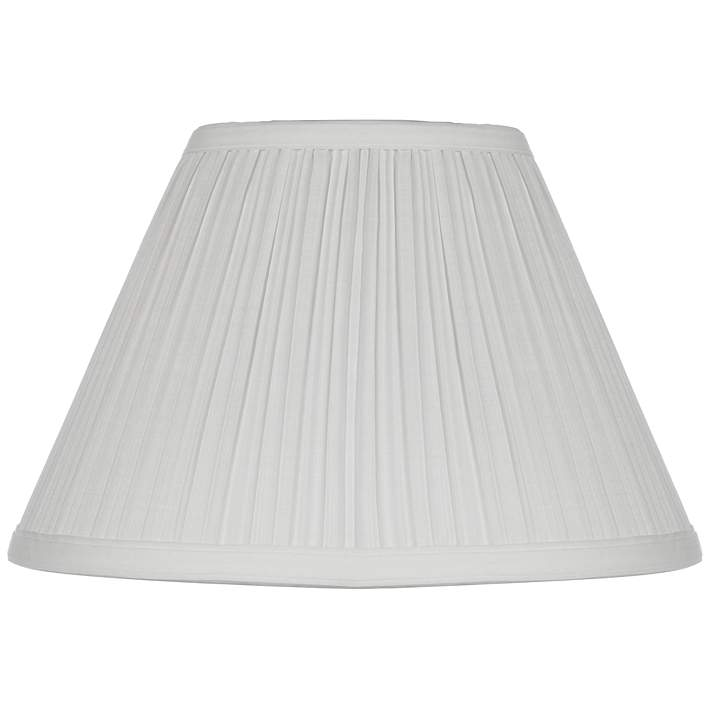 White Mushroom Pleated Lamp Shade