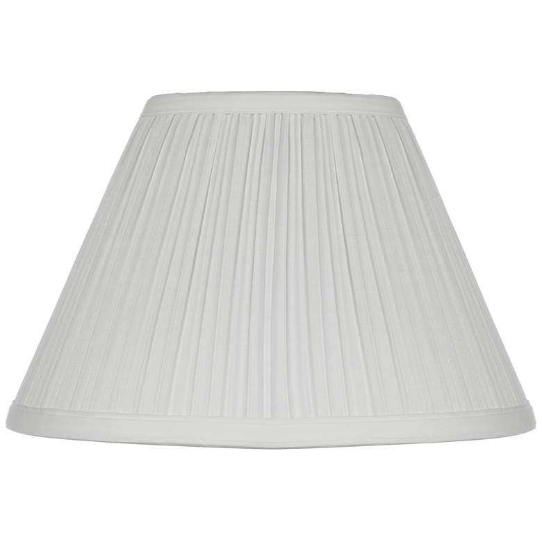White Mushroom Pleated Lamp Shade 5x11x7.5 (Clip-On)
