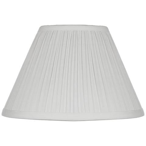 White Mushroom Pleated Lamp Shade 5x11x7.5 (Clip-On)