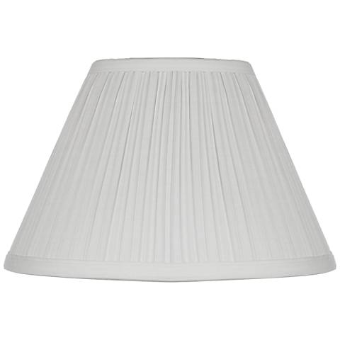 White Mushroom Pleated Lamp Shade 5x11x7 5 Clip On