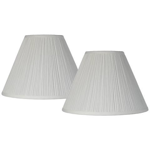 Antique White Set of 2 Lamp Shades 6.5x15x11 (Spider)