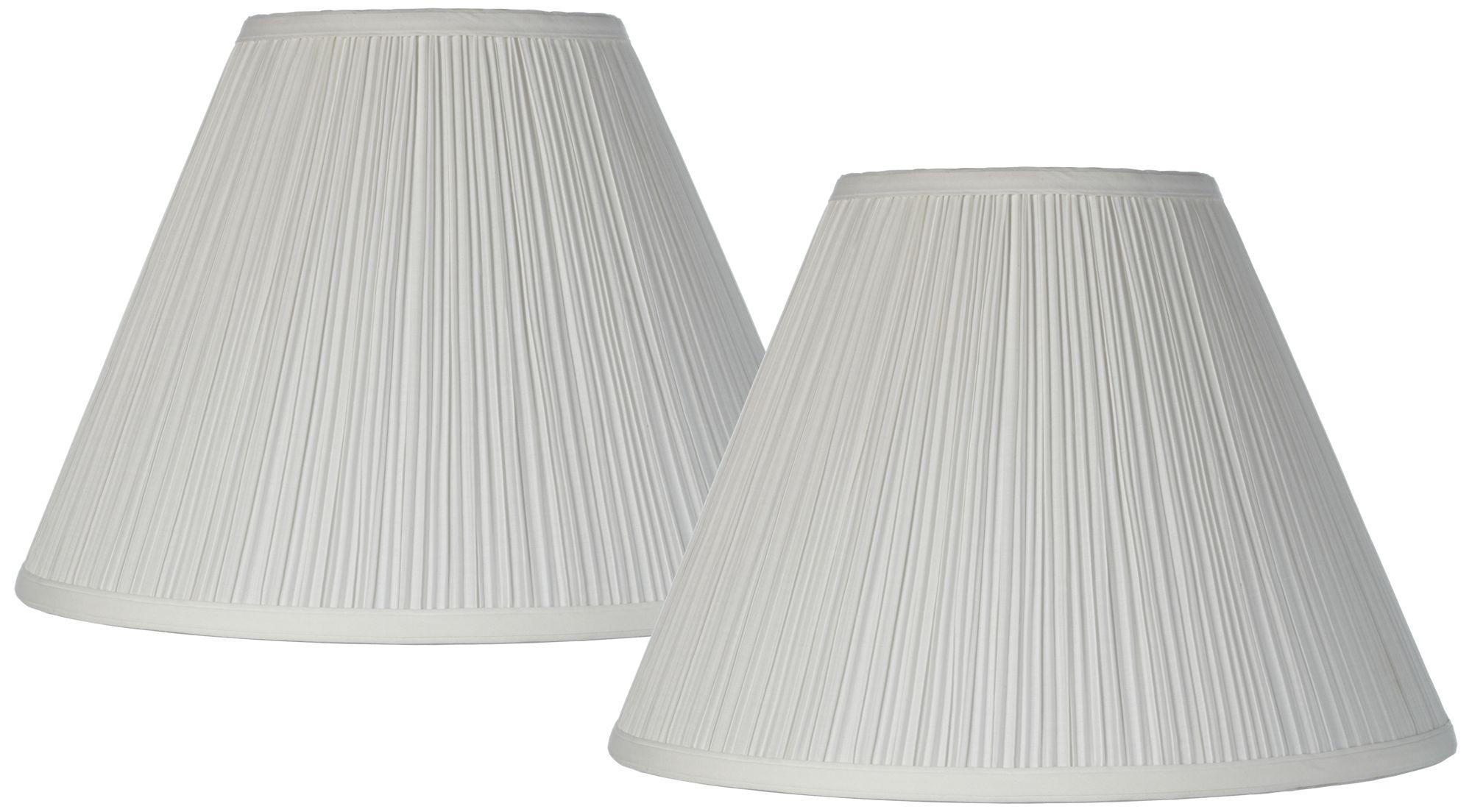 Antique White Set Of 2 Lamp Shades 6.5x15x11