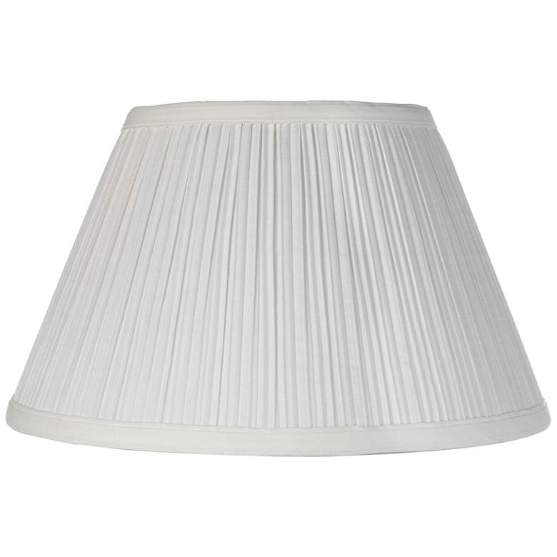 Downbridge Antique White Pleated Shade 6.5x12x7.5 (Uno)