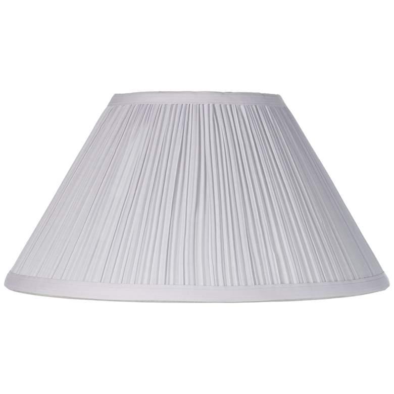 White Mushroom Pleated Lamp Shade 6x14x8 (Spider)