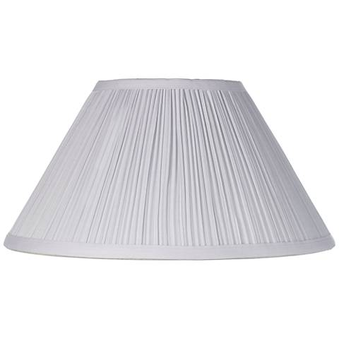 White Mushroom Pleated Lamp Shade 6x14x8 (Spider)