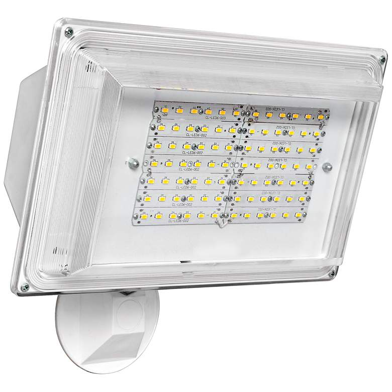"12 1/4""H Dusk-to-Dawn White 42 Watt Outdoor LED Floodlight"