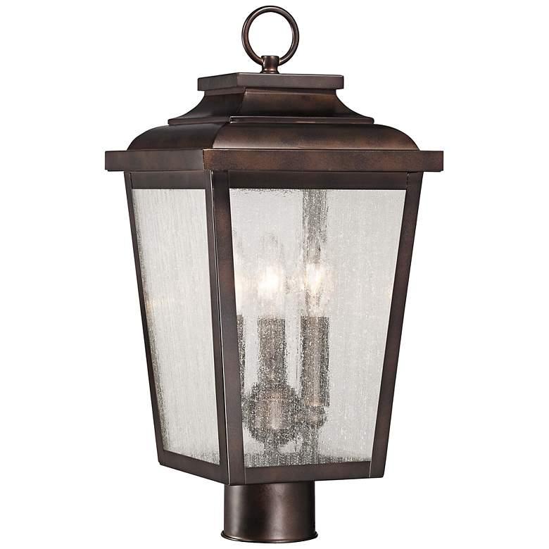 "Irvington Manor 18"" High Bronze Outdoor Post Mount Light"