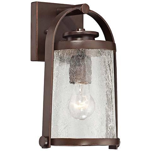 """Travessa Bronze 11"""" High Small Outdoor Wall Light"""