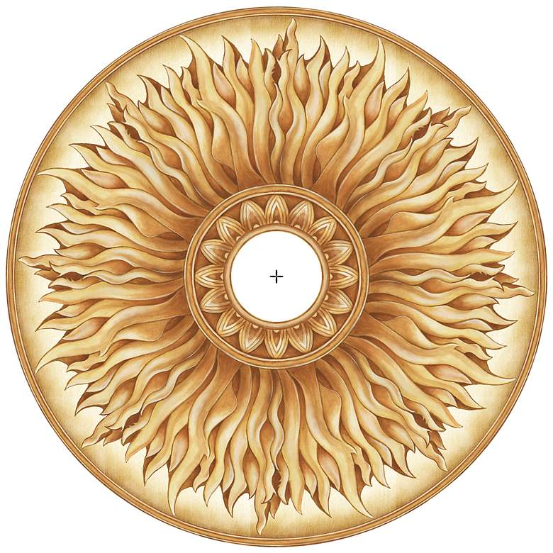 """Southern Sun 24"""" Wide Repositionable Ceiling Medallion"""