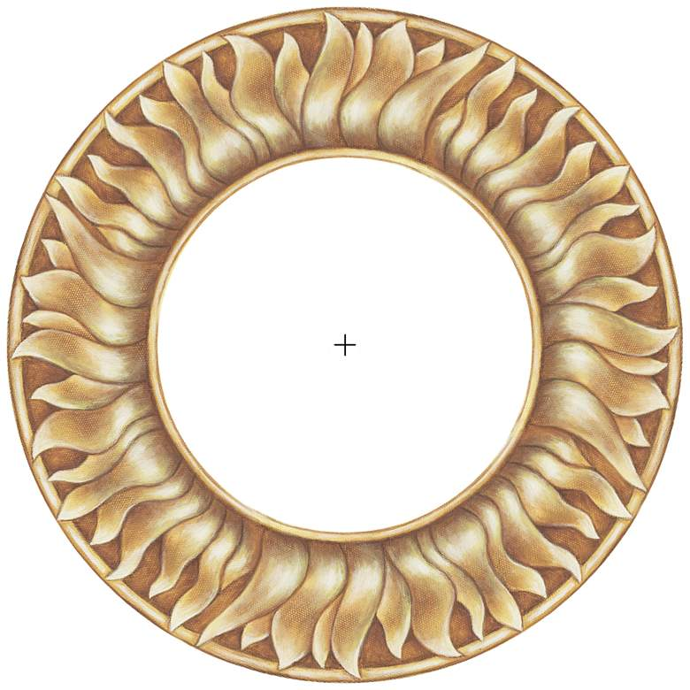 "Florentine Sun 12"" Wide Recessed Can Ceiling Medallion"